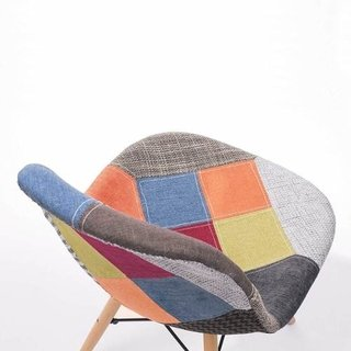 Set * 2 Silla Patchwork Daw Eames Base Madera - Alto Impacto - ALTO IMPACTO Home + Office