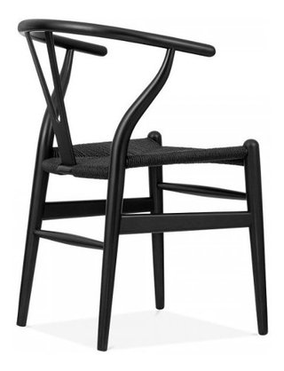 Set * 2 Silla Wishbone Hans Wegner Base Negra- Alto Impacto - ALTO IMPACTO Home + Office