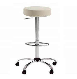 Banqueta Taburete Regulable Cromado Giratoria Modelo Atomic - ALTO IMPACTO Home + Office