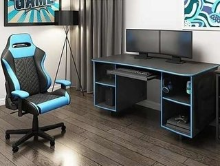 Escritorio Gamer Mueble Pc Operativo V Colores Ai07 6 P - ALTO IMPACTO Home + Office