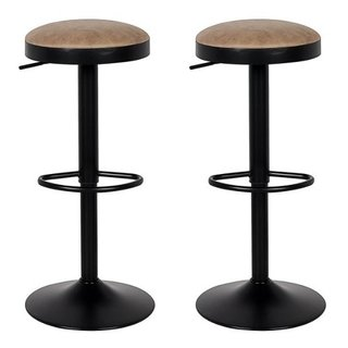 Set 2 Banqueta Bar Taburete Regulable Atomic N Alto Impacto - ALTO IMPACTO Home + Office