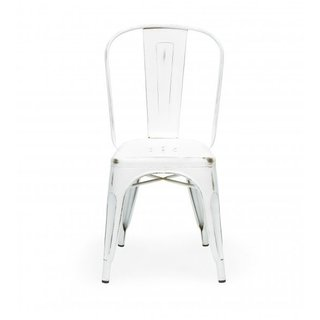 Silla Modelo Xavier Pauchard Tolix Blanco Antique en internet