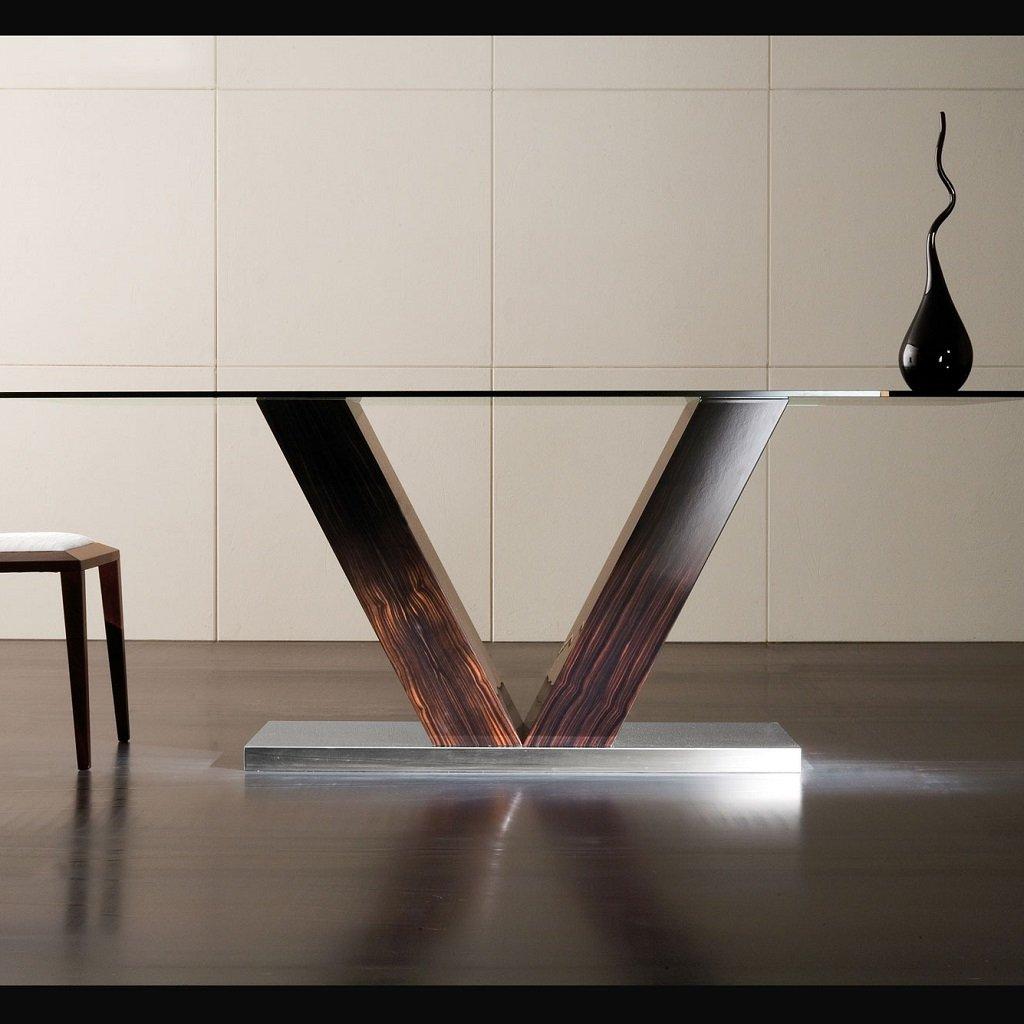 mesa comedor vidrio super moderna by costantini pietro