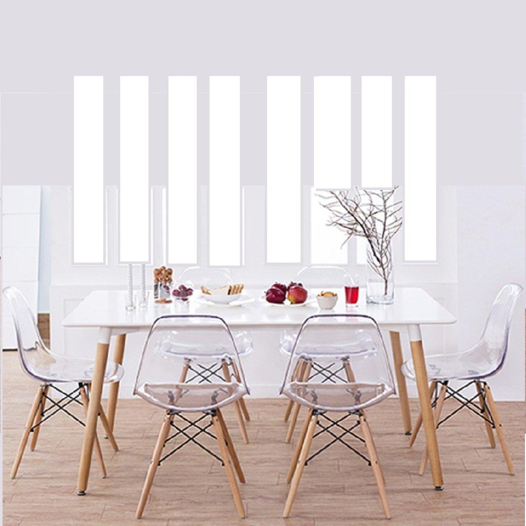 Mesa eames cellini x laca blanca 6 sillas dsw - Laca blanca para madera ...