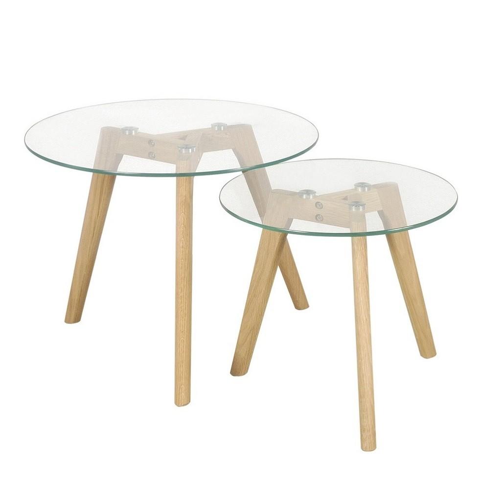 Mesa ratona escandinaba vidrio for Mesa de madera con vidrio