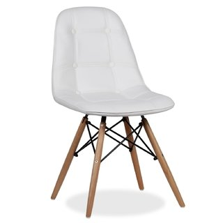 Silla Dsw Charles Eames Tapizada Capitone - comprar online