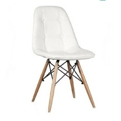 Silla Dsw Charles Eames Tapizada Capitone
