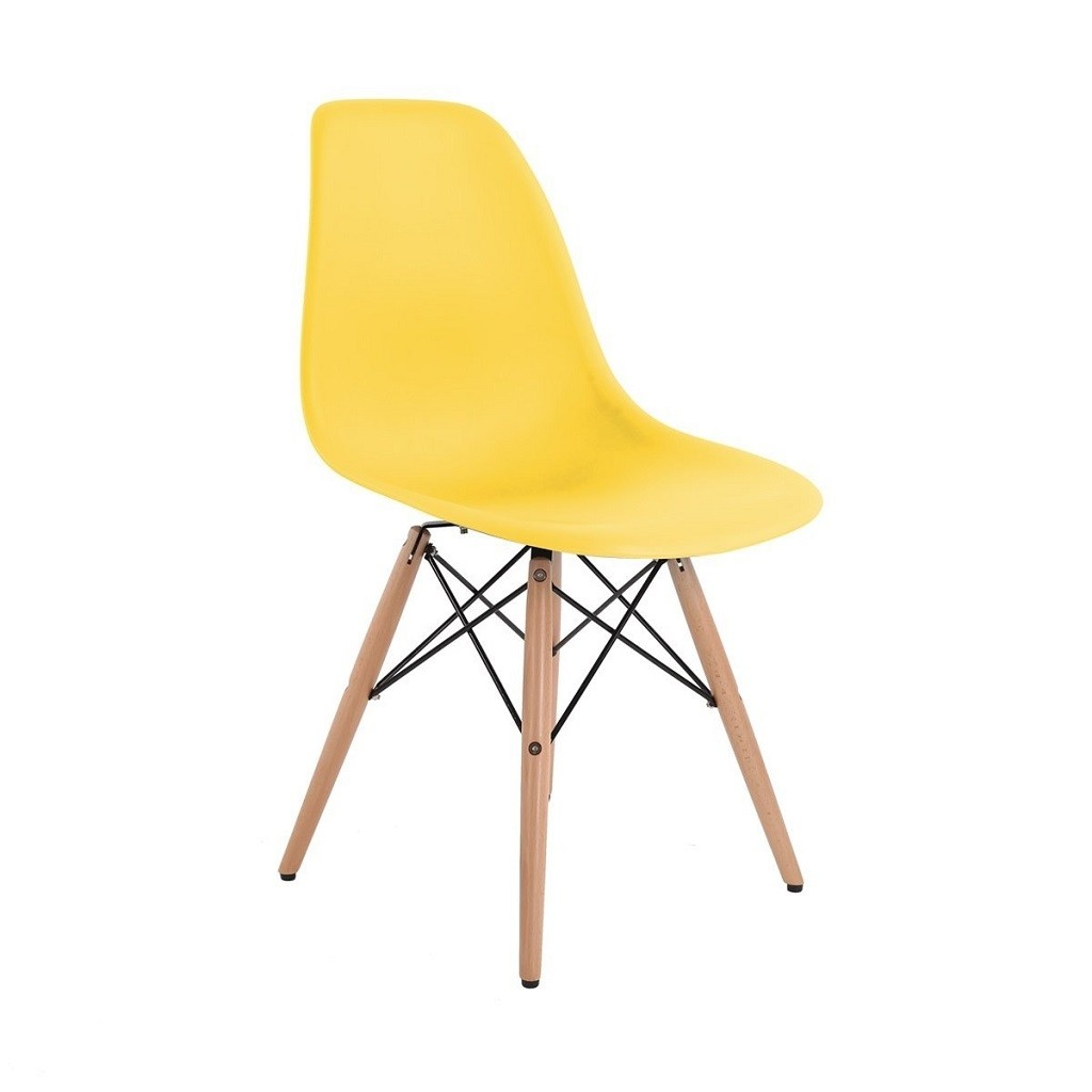 silla eames dsw con base de madera en internet