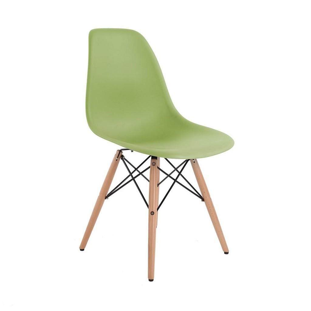 imagen de silla eames dsw con base de madera