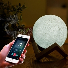 Lámpara Luna 15cm 3D Bluetooth