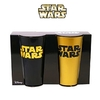 Set 2 vasos Star Wars Gold/Black