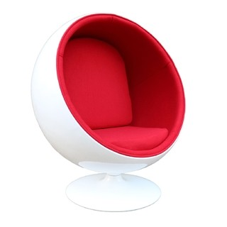 Ball Chair: Red
