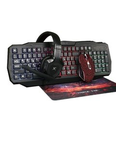 Kit Gaming Xtrike Me. Teclado, Mouse, Audífonos y Mousepad