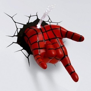 Lampara 3D: Mano Spiderman