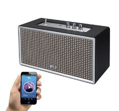 Parlante Amplificador Retro Bluetooth Black