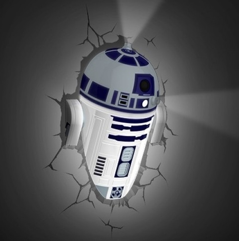 Lampara 3D Star Wars: R2D2