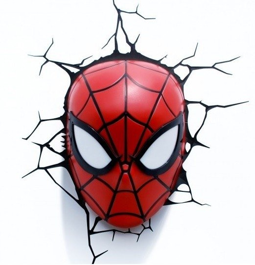 Lampara 3d: Spiderman Face