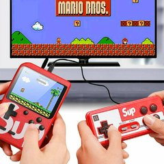 Consola retro 400 juegos + control + cable TV