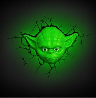 Lampara 3D Star Wars: Yoda