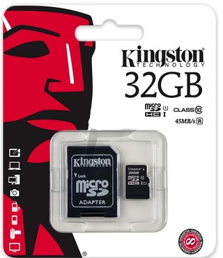 MEMORIA MICRO SD KINGSTON CLASE 10 DE 32GB