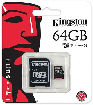 MEMORIA MICRO SD KINGSTON CLASE 10 DE 64GB