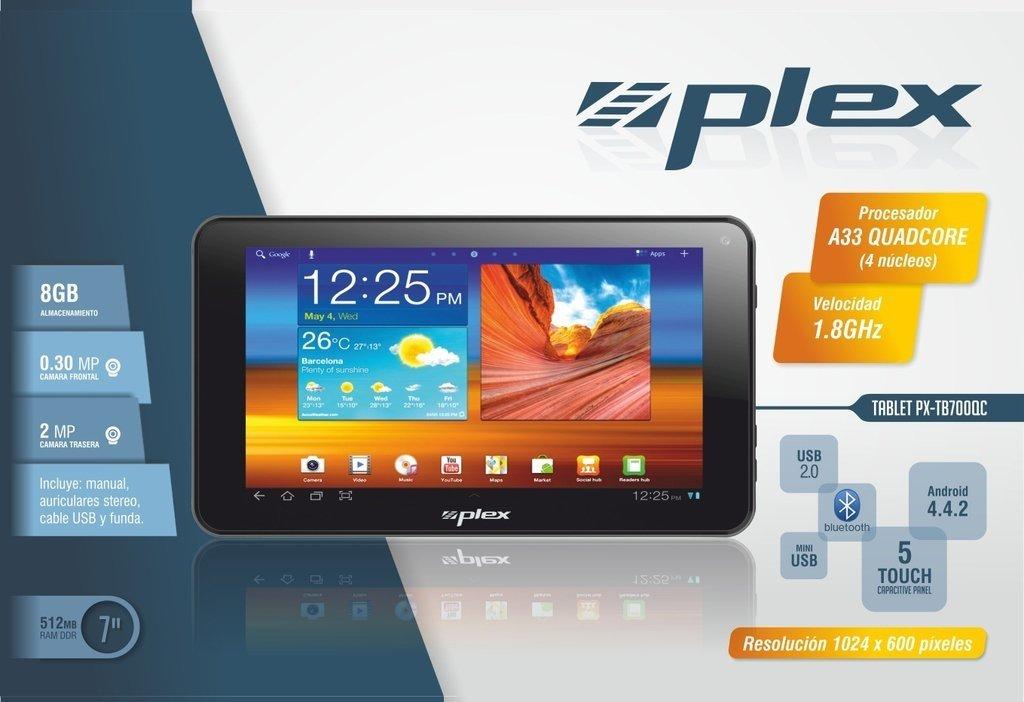 "Tablet de 7"" PLEX Quad Core Doble Camara WIFI"