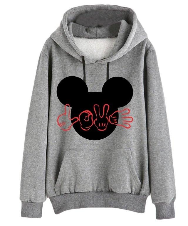 7674c2cfa Blusa Moletom Mouse Love - Comprar em HERO CAMISETAS