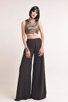 Crop top de brocato con lurex Muriel II
