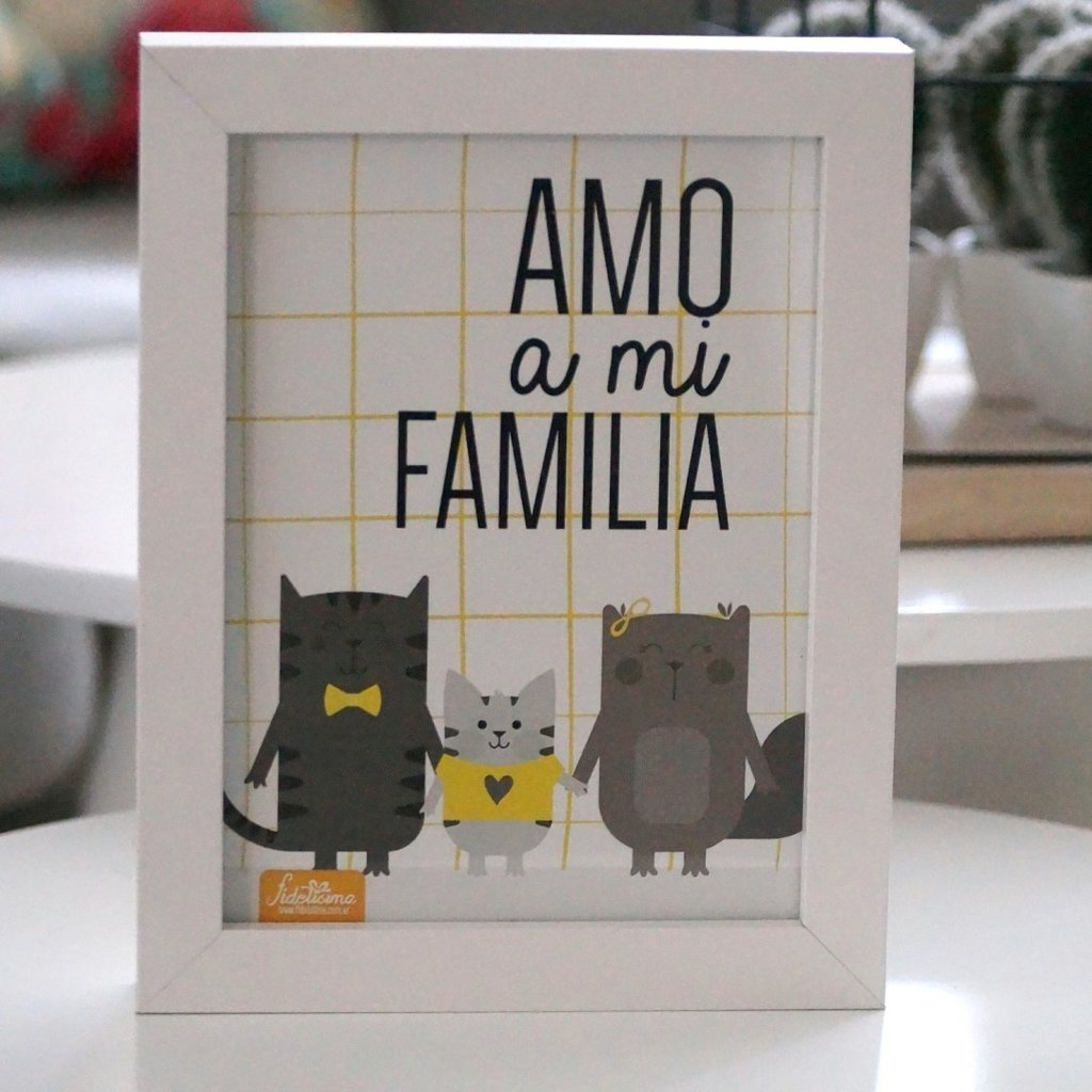 "CUADRO: ""AMO A MI FAMILIA"""