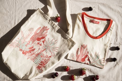 Combo Remera Agave + Tote Valonia