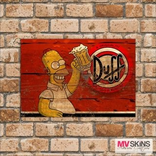 Placa Decorativa Duff Beer Homer Simpson - comprar online