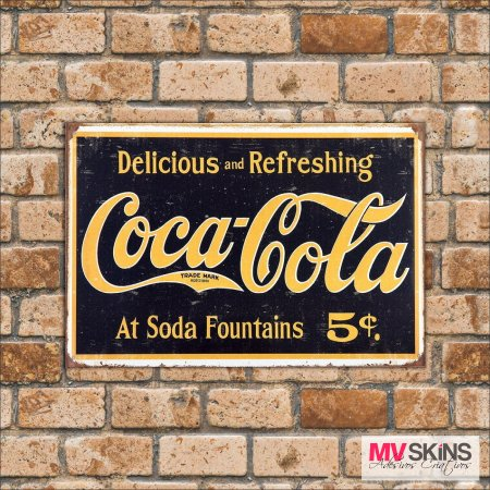 Placa Decorativa Delicious And Refreshing Coca-Cola - comprar online