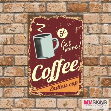 Placa Decorativa Coffe Endless Cup na internet