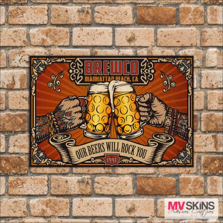 Placa Decorativa Brewco na internet