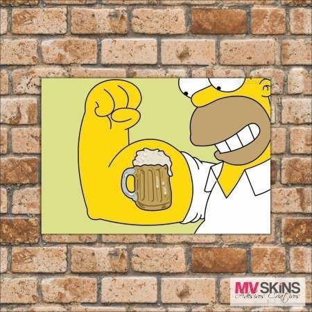 Placa Decorativa Homer Simpson na internet