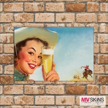 Placa Decorativa Beer Pin-Up - comprar online