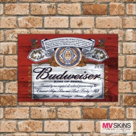 Placa Decorativa Budweiser King Of Beers na internet