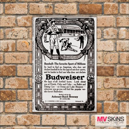 Placa Decorativa Beer Budweiser na internet