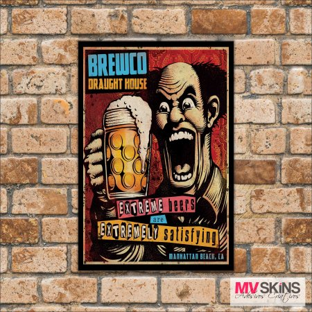Placa Decorativa Brewco Draught House na internet