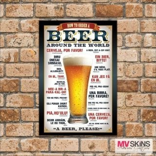 Placa Decorativa Beer Around The World na internet