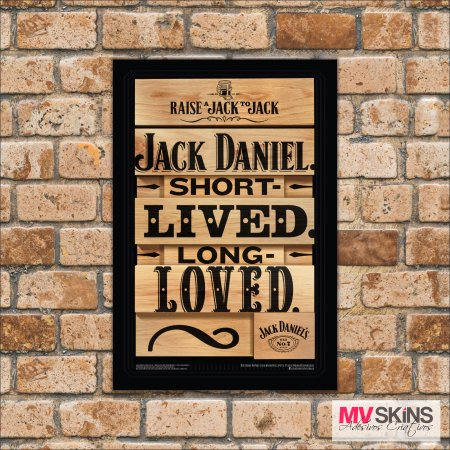 Placa Decorativa Jack Daniel Short Lived Long Loved na internet