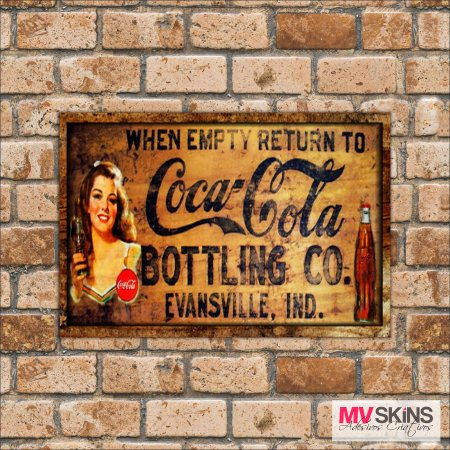 Placa Decorativa Coca-Cola Bottling Co 01
