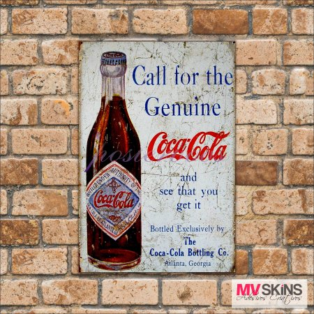 Placa Decorativa Coca-Cola Bottling Co - comprar online