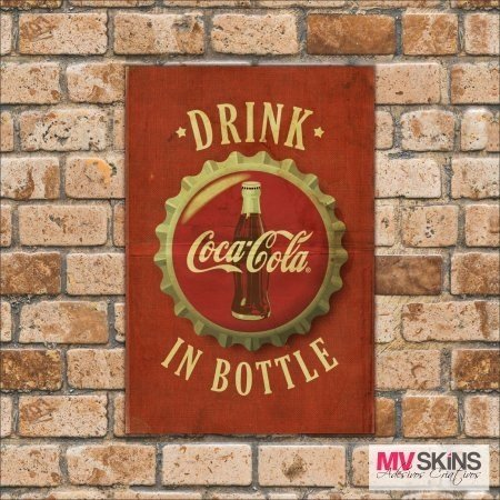 Placa Decorativa Drink In Bottle Coca-Cola na internet