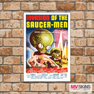 Placa Decorativa Invasion Of The Saucer-men na internet
