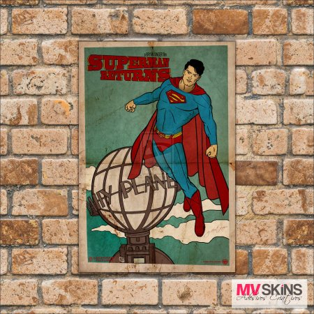 Placa Decorativa Superman Returns na internet