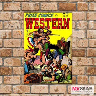 Placa Decorativa Prize Comics Western na internet