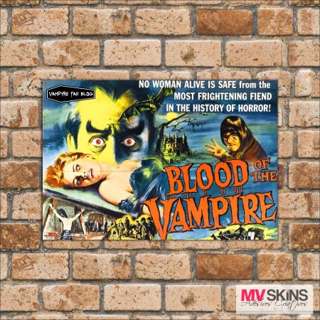 Placa Decorativa Blood Of The Vampire na internet