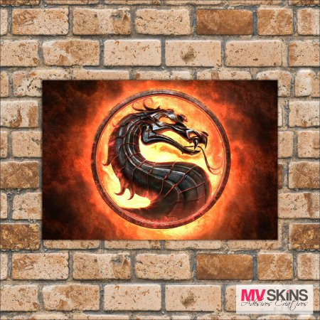 Placa Decorativa Games Mortal Kombat  - comprar online