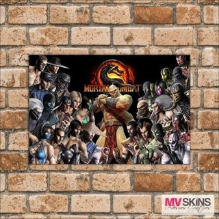 Placa Decorativa Games Personagens Mortal Kombat na internet